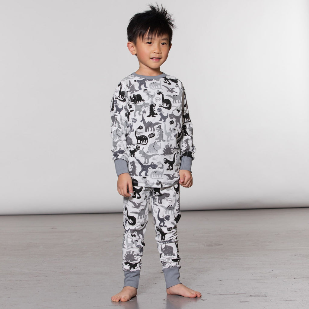 Grey Dinos PJs Set