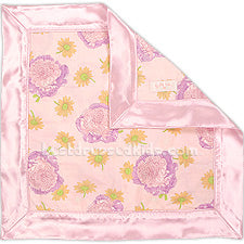 Baby Lulu Floral Satin Trimmed Blankie - Multiple Colors Available
