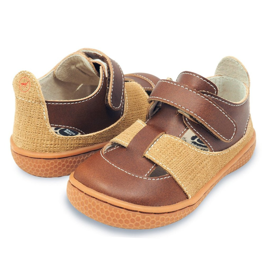 Captain Sandal in Brown/Tan by Livie & Luca