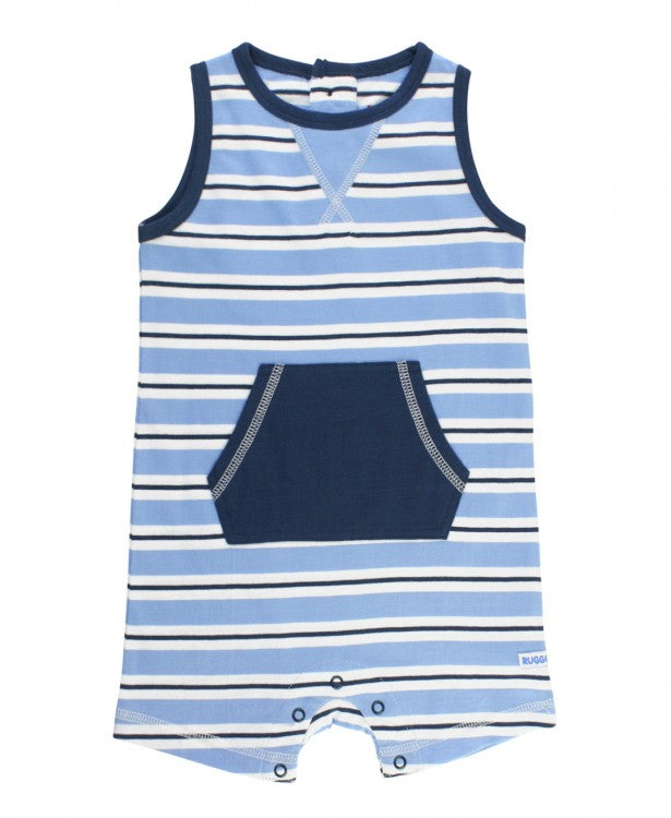 Cornflower Blue Striped Tank Romper