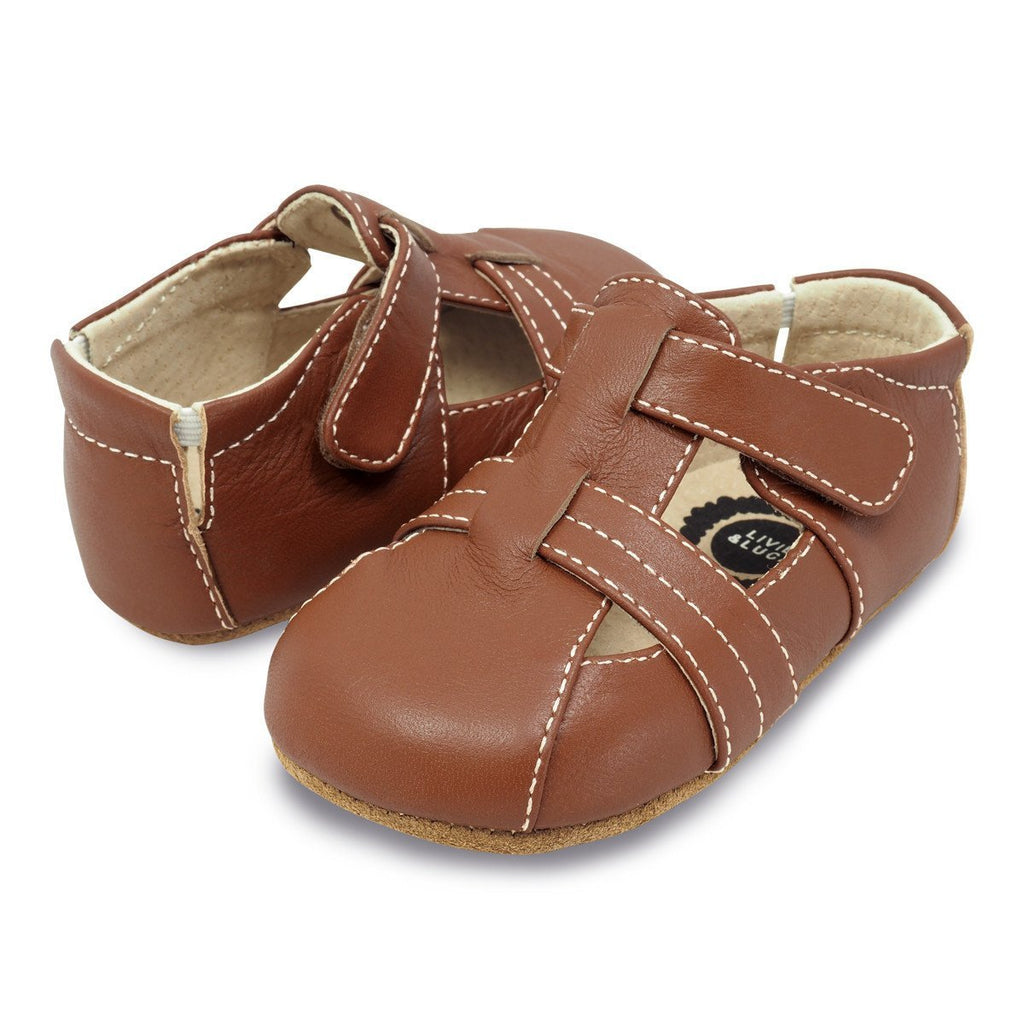 Captain Sandal in Light Brown by Livie & Luca