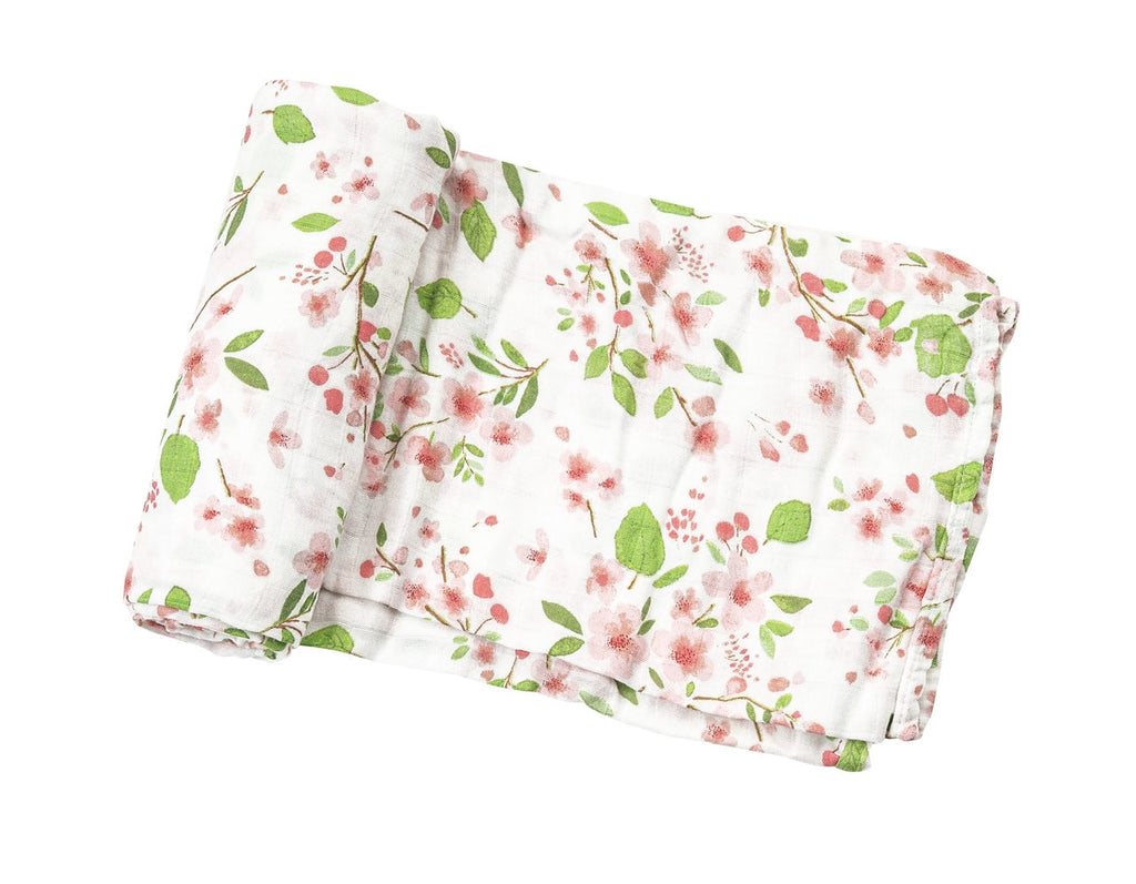 Cherry Blossom Swaddle Blanket