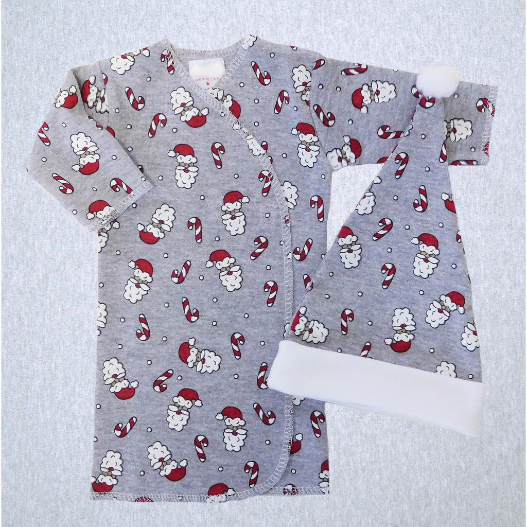 Santa Face Preemie Long Shirt