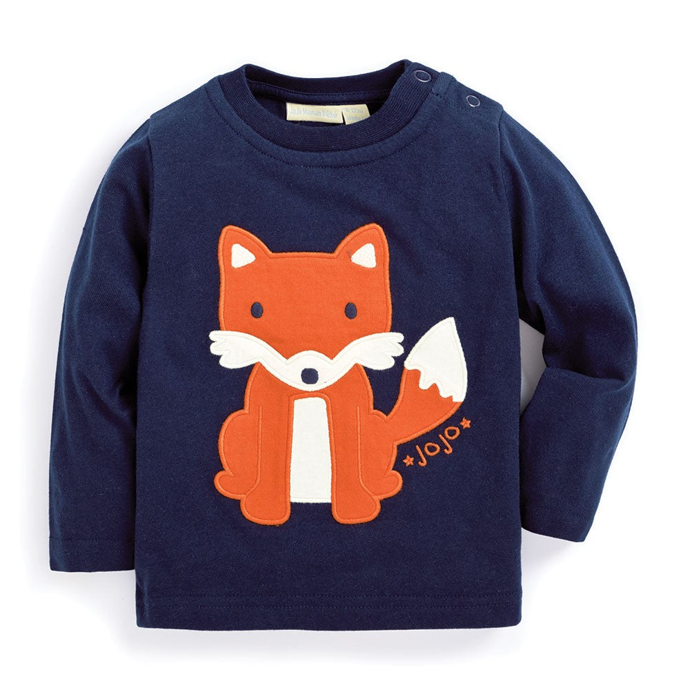 Fox Baby Top on Navy Blue