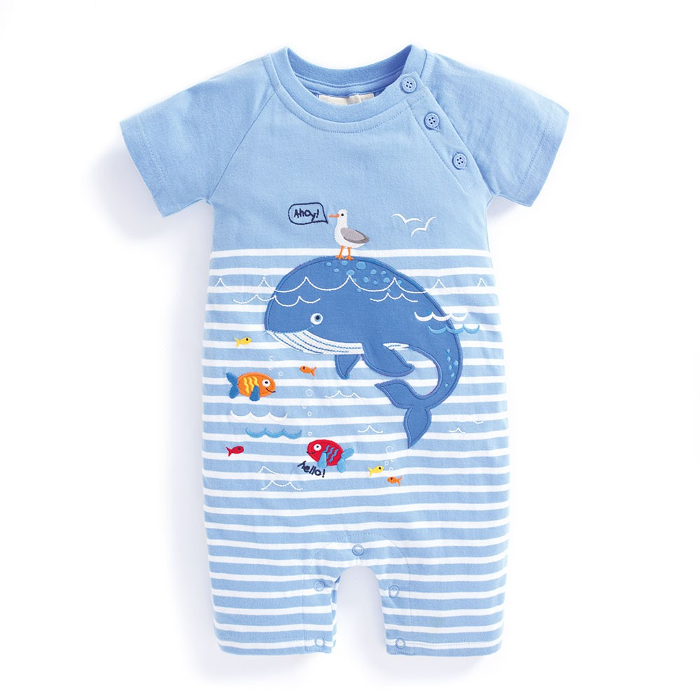 Whale Baby Romper