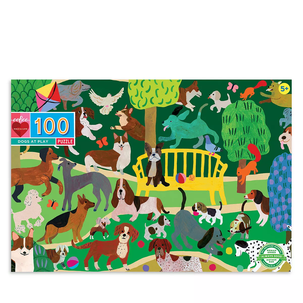 Dogs at Play in the Park - 100 Piece Puzzle