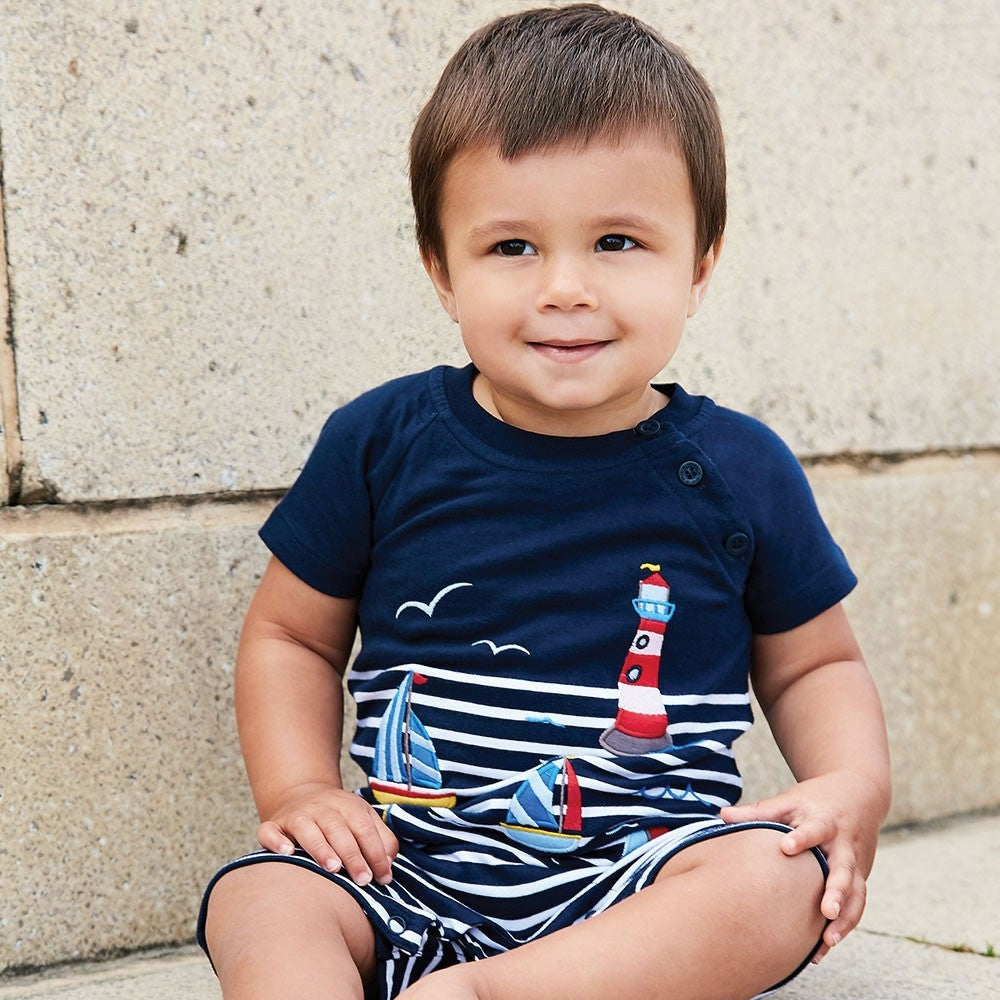 Boat & Lighthouse Baby Romper