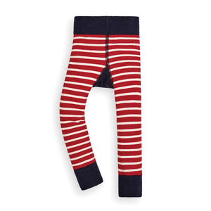 Reindeer Striped Leggings