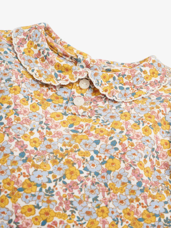 Vintage Floral Peter Pan Top