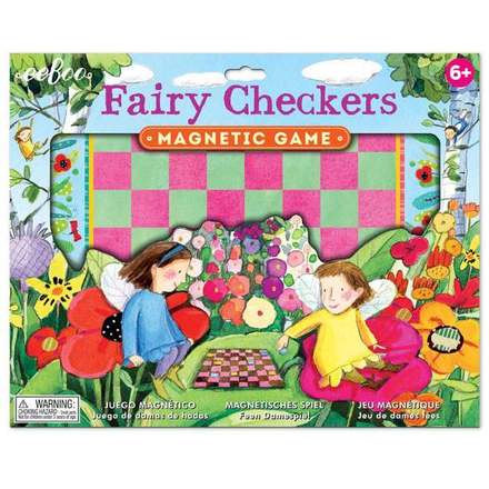 eeBoo Fairy Checkers Magnetic Game