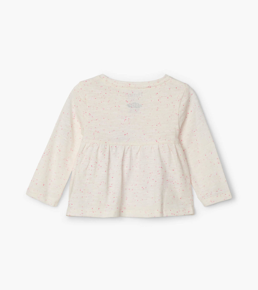 Embellish Bunny Long Sleeve Baby Tee