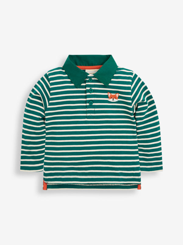 Green Fox Long Sleeve Polo