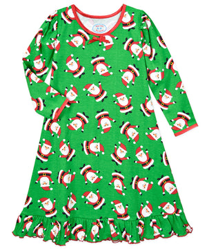 Sara's Prints Hooray Santa Long Sleeve Night Gown
