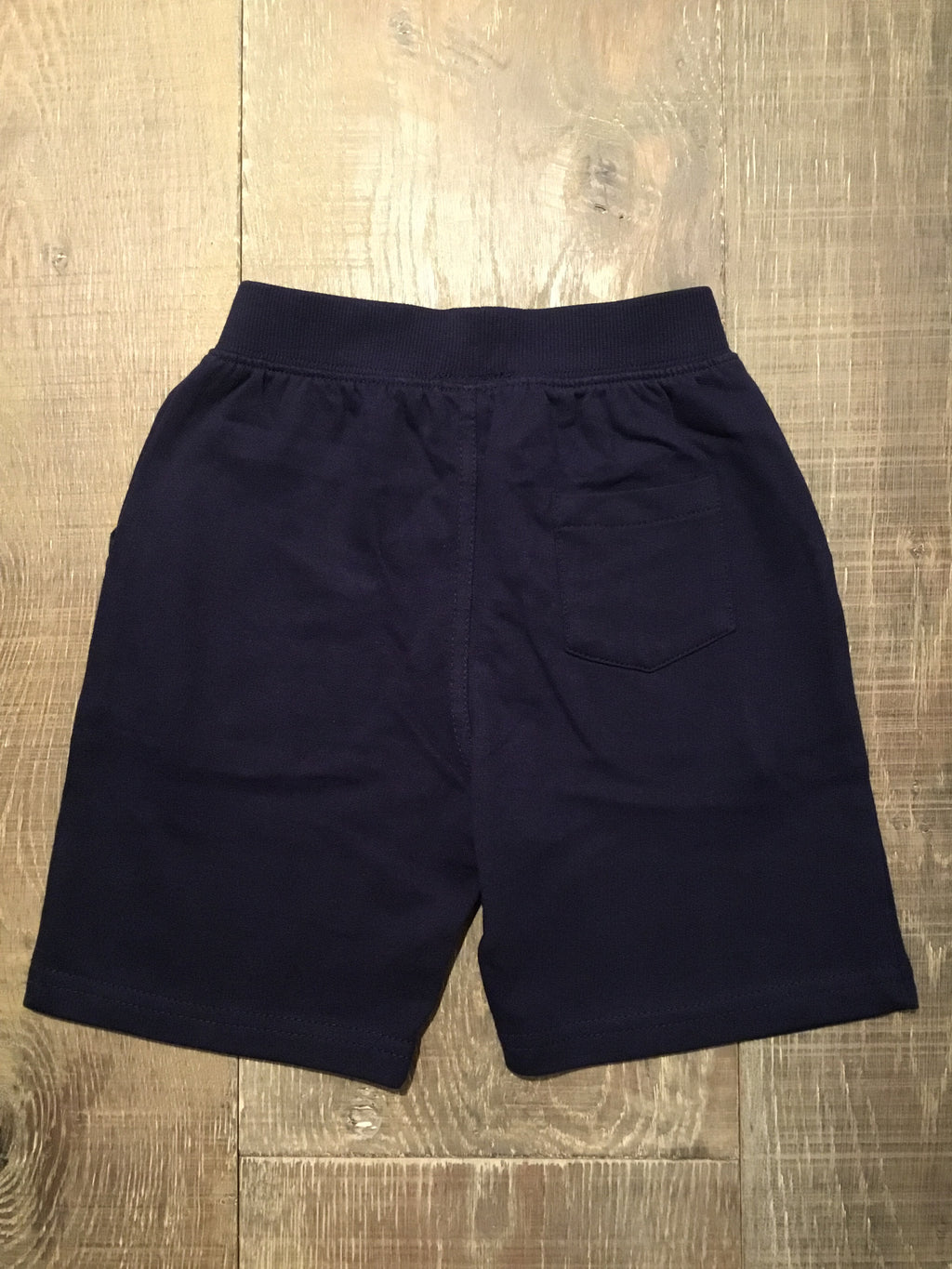 Navy Knit Drawstring Pocket Shorts
