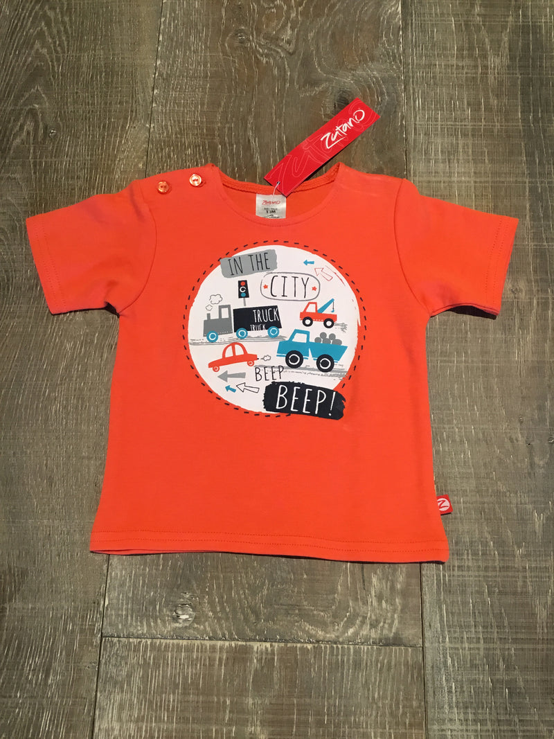 "Orange ""In the City"" Short Sleeve Shirt"