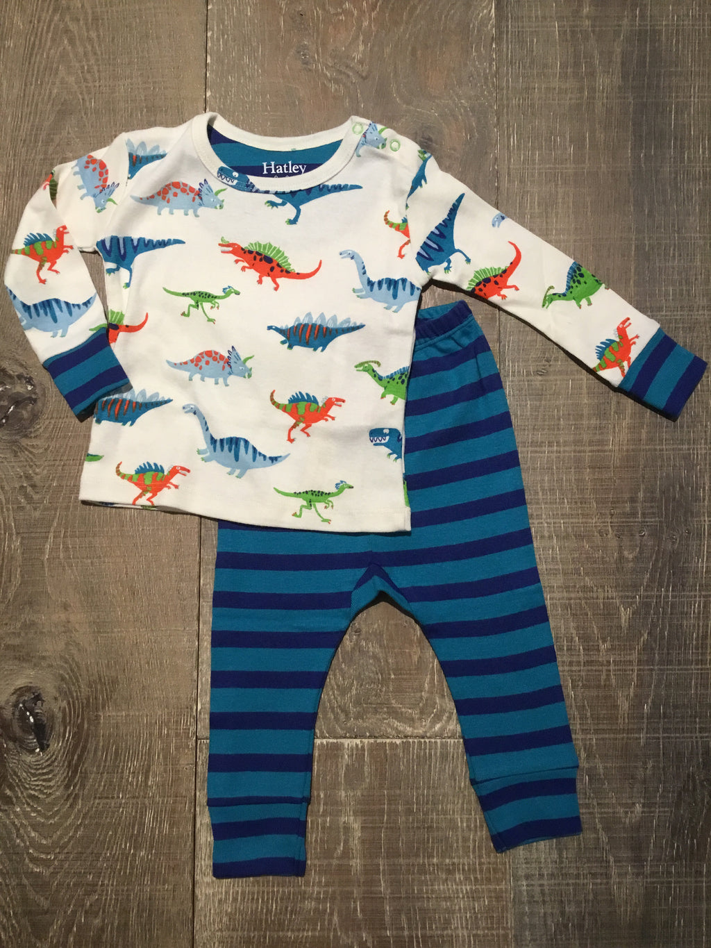 Dino Herd Organic Cotton Baby PJ Set