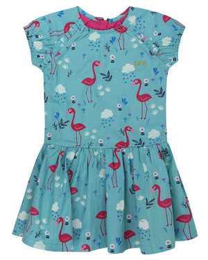Flamingo print Woven Betty Dress