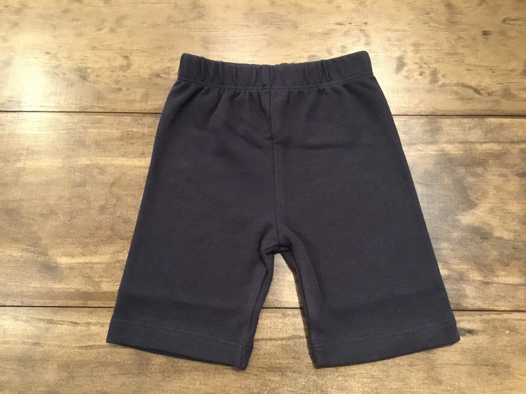 Navy Solid Bicycle Shorts by Luigi Kids