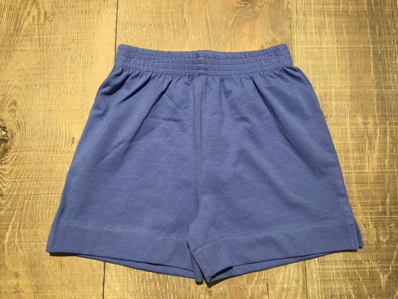 Dark Chambray Jersey Knit Shorts