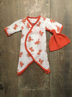 Fox Muslin Coverall with Cap