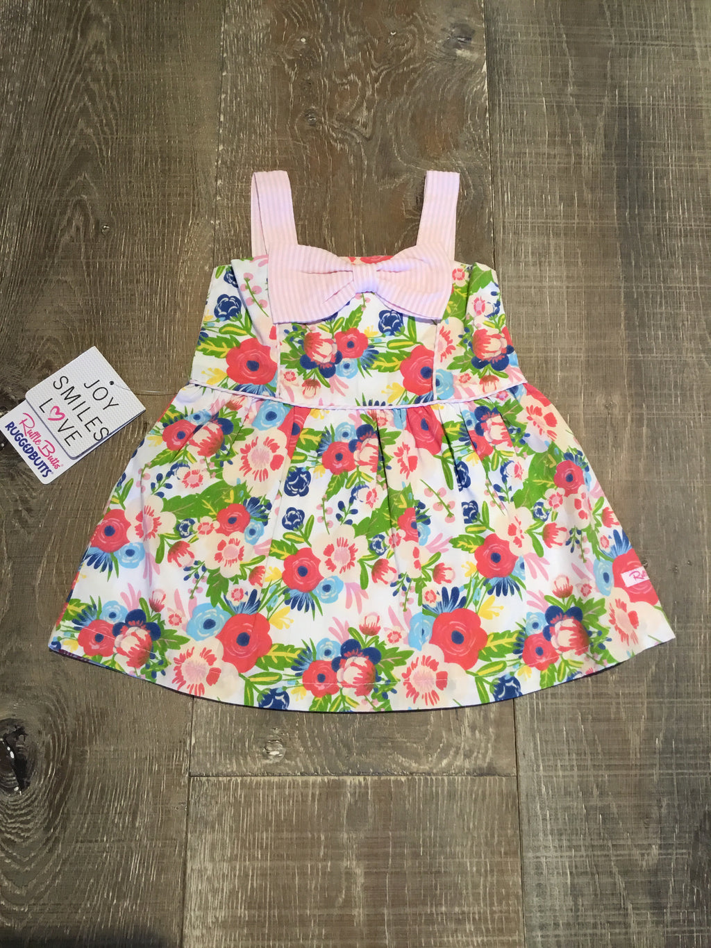 English Garden Fit & Flare Bow Dress