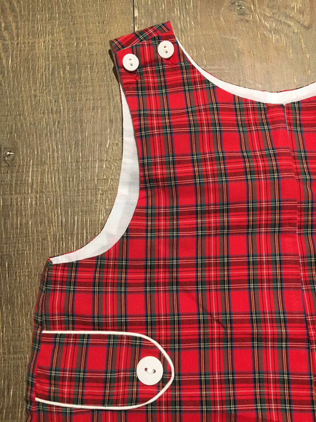 Red Plaid Shortall