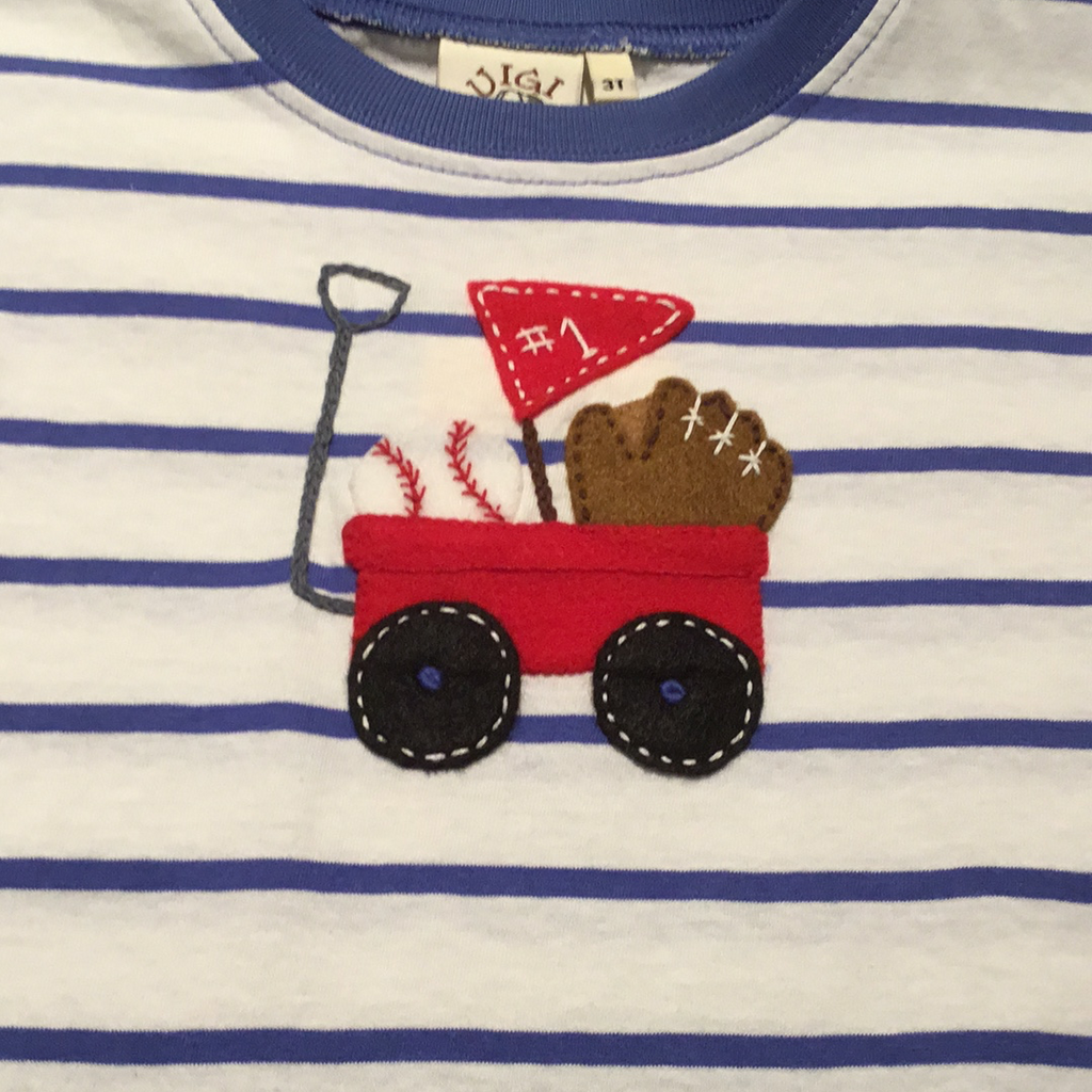 Baseball Wagon Applique Tee