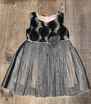 Black Rosette Tulle Dress