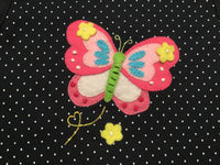 Sleeveless Navy Dotted Butterfly Shirt
