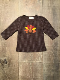 Dotted Chocolate Turkey Long Sleeve Shirt