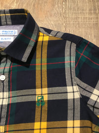 Slim Fit Button Down Plaid Shirt