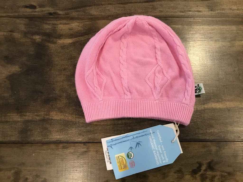 Bamboo Knit Cap in Pink