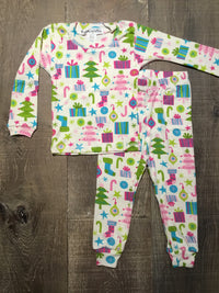 Christmas Decorations Long PJs by Thingamajiggies4Kids