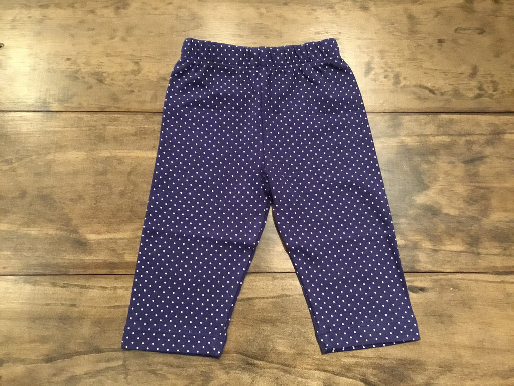 Light Navy & White Dotted Capris by Luigi Kids