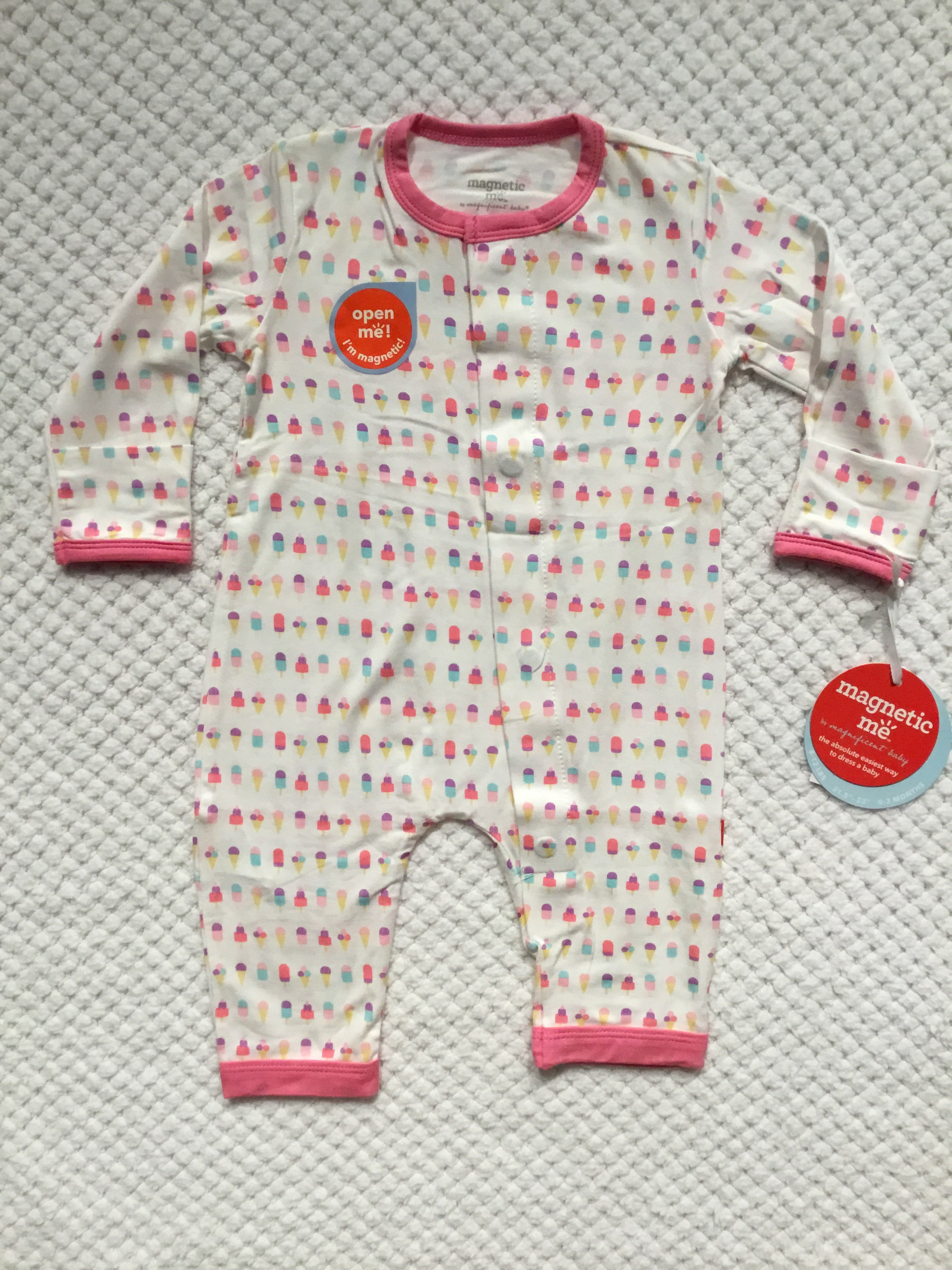 Ice Cream Modal Magnetic Coverall by Magnificent Baby