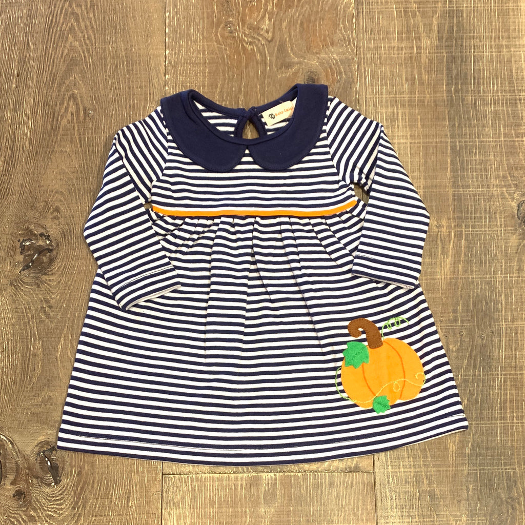 Light Navy Striped Pumpkin Dress