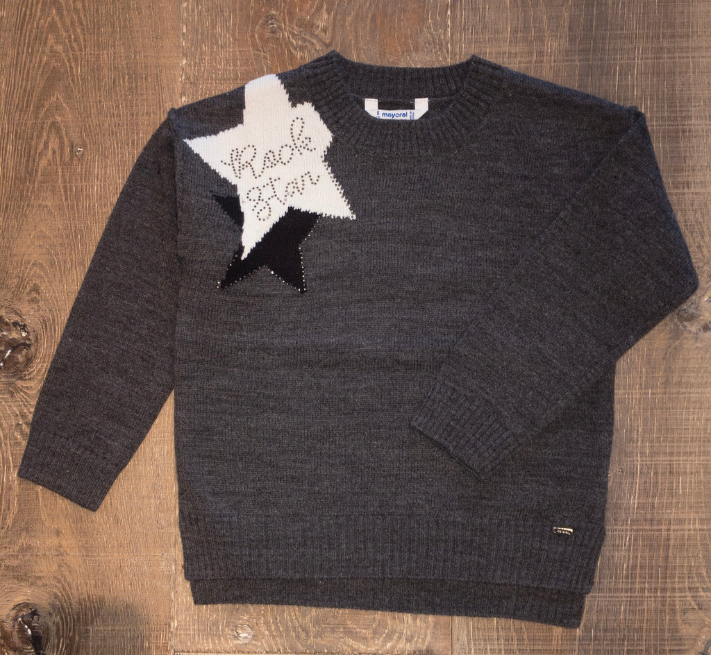 """Rock Star"" Sweater in Gray"