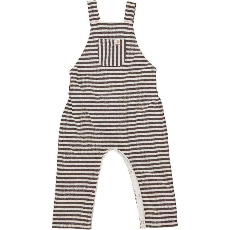 Brown Striped Overall