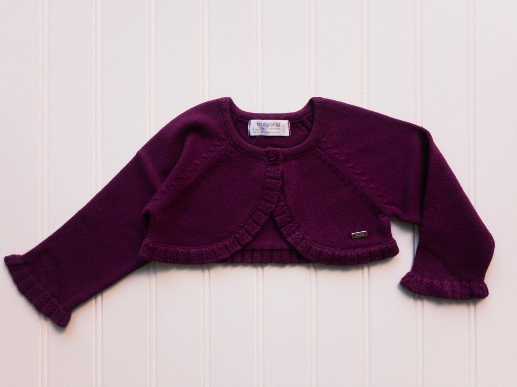 Plum Knit Short Cardigan