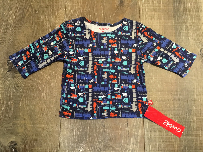 Train Print Long Sleeve Shirt