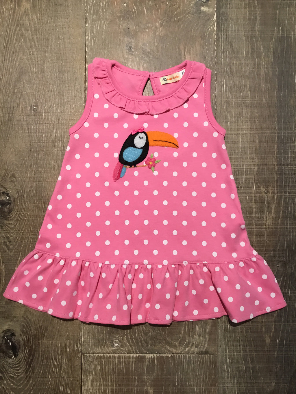 Toucan Ruffle Dress by Luigi Kids
