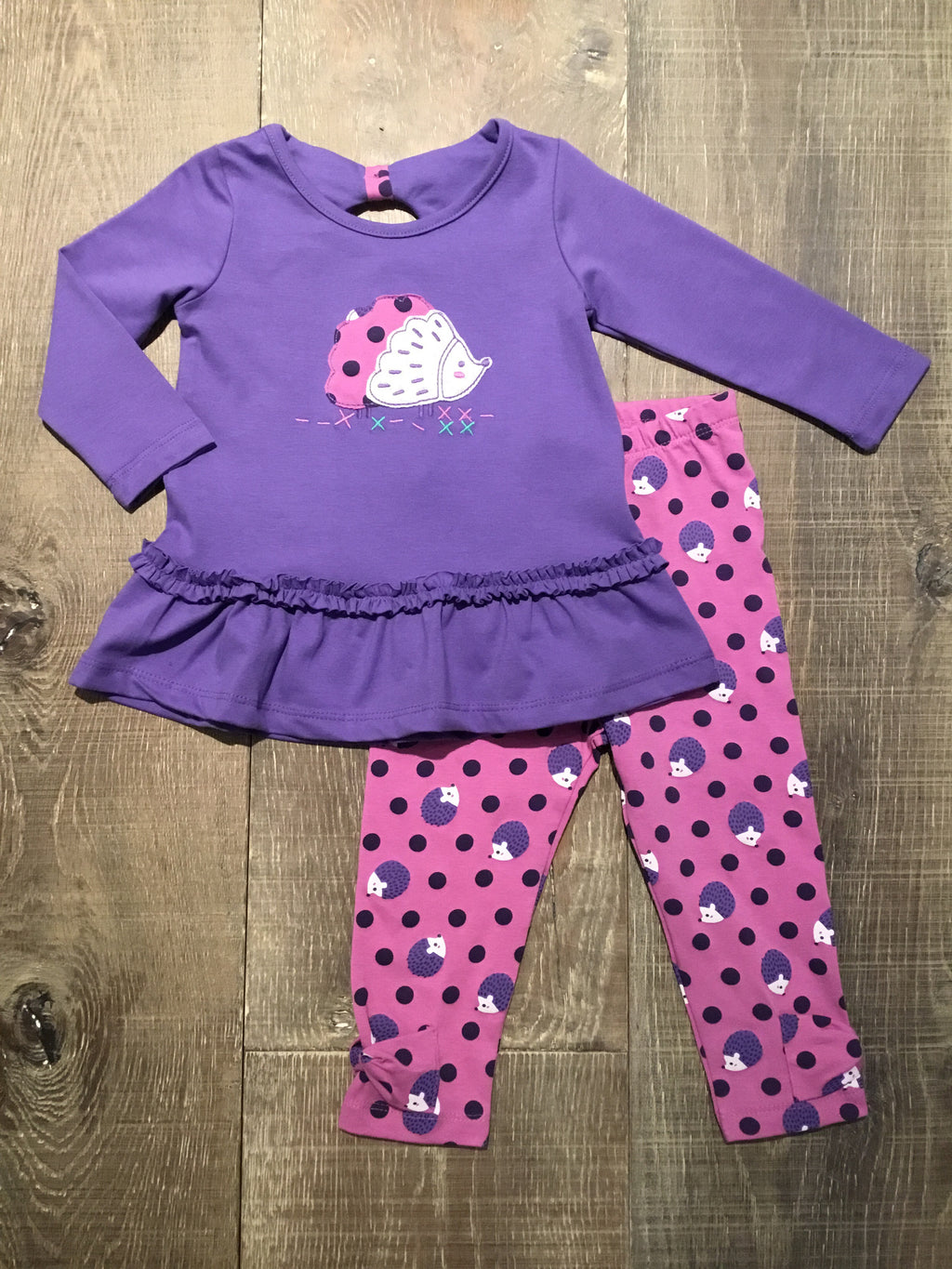 Hedgehog Top & Leggings Set
