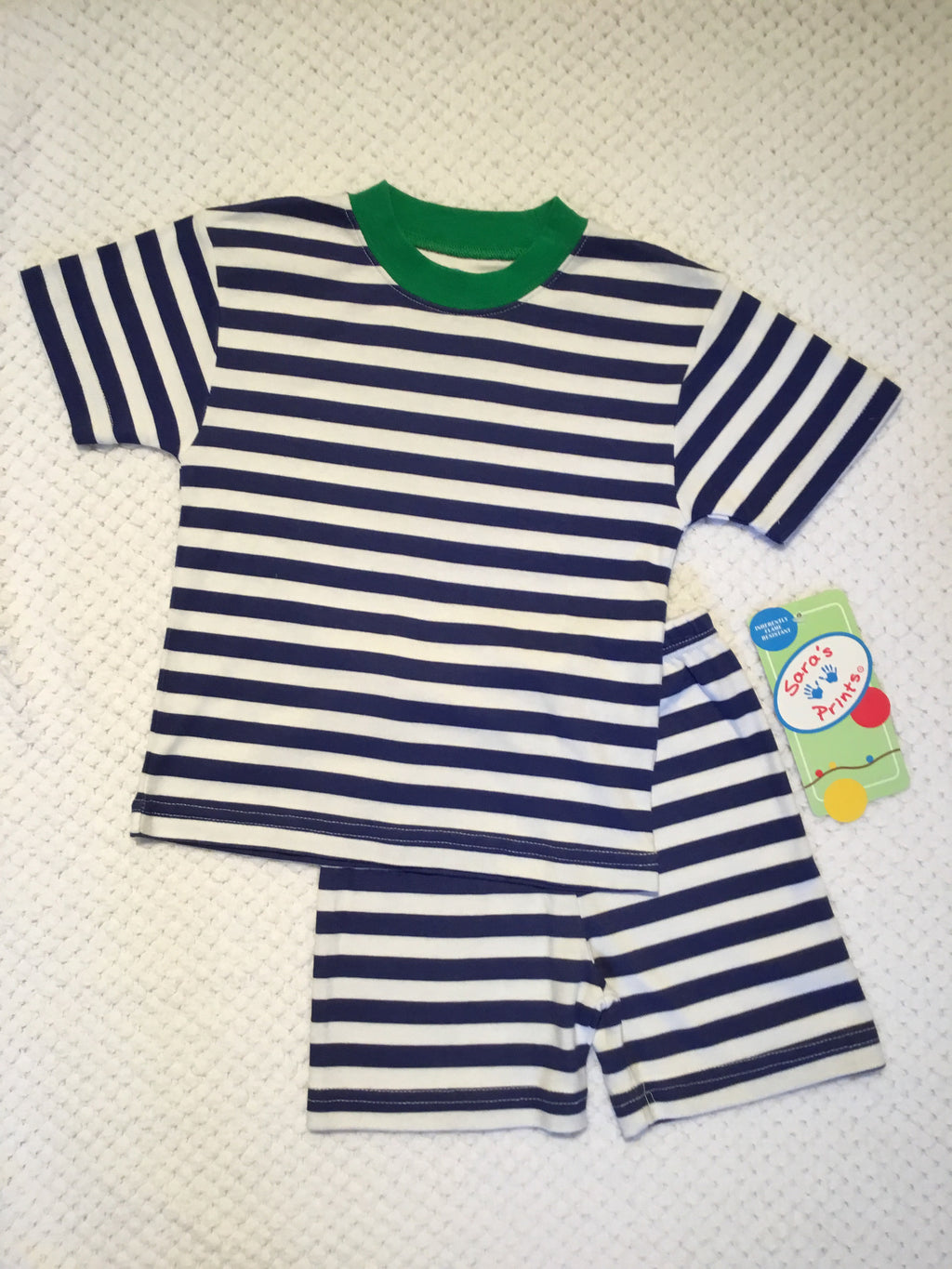 Nautical Stripe Short Pajamas