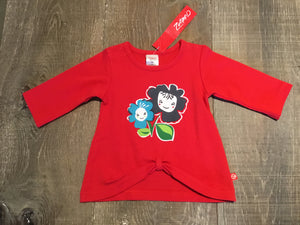 Red Petal Pals Long Sleeve Swing Top