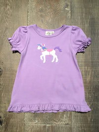 Lavender Pony Ruffle Swing Top