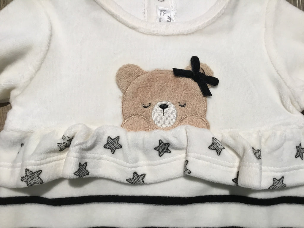 Black  Ivory Stars & Stripes Bear Pjs