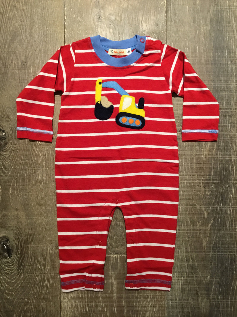 Backhoe Red/White Striped Coverall
