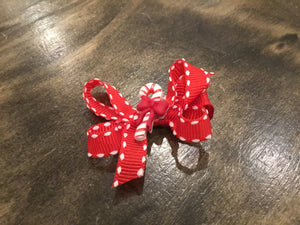 Candy Cane Baby Bow