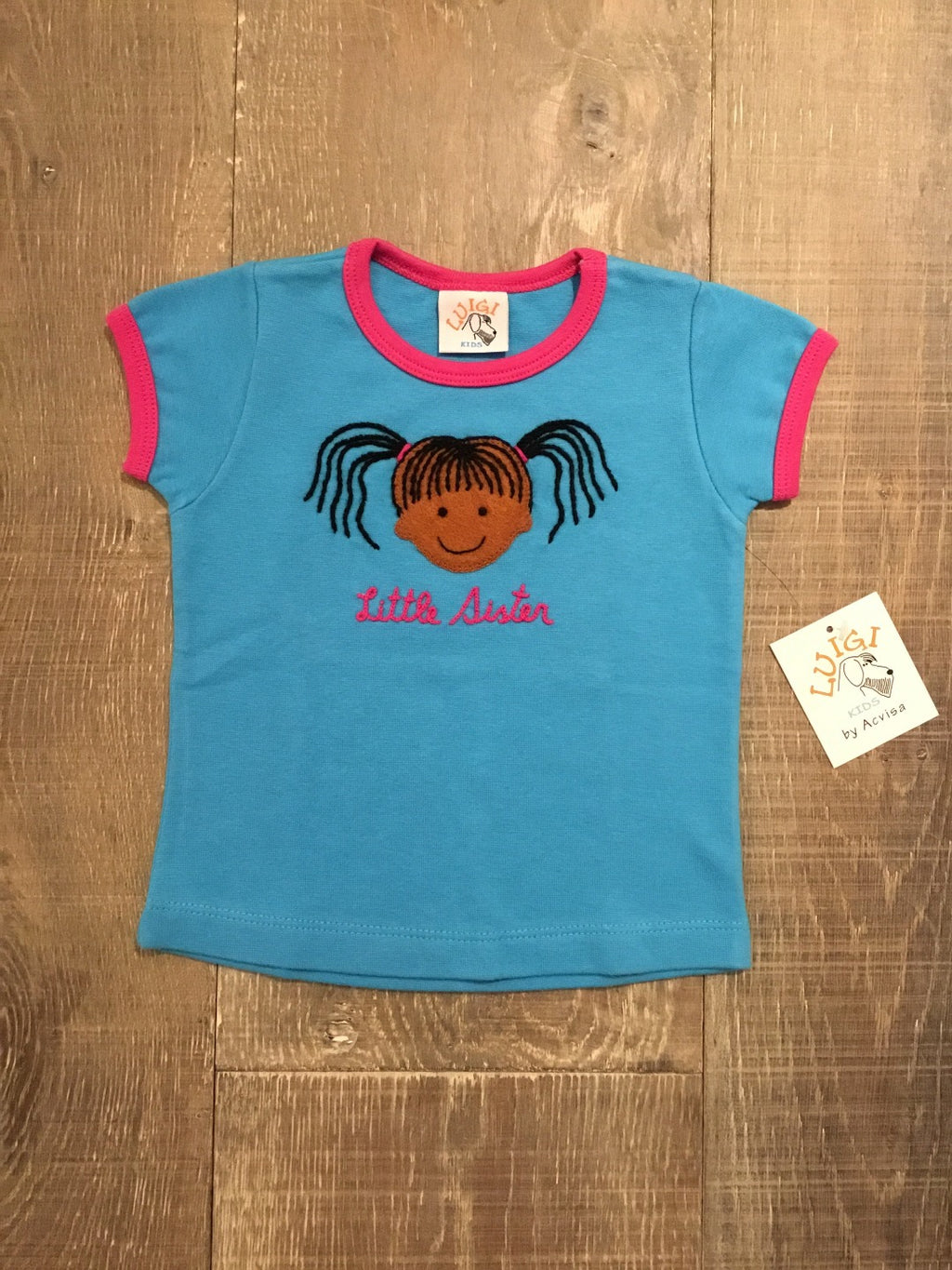 Little Sister Blue Short Sleeve Shirt