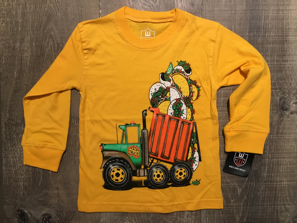 Taco Truck Long Sleeve Bold Gold Tee